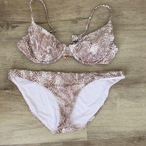 snakeskin bikini